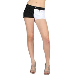 Tripp NYC Split Leg Shorts in Black/White