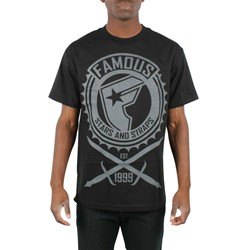 Famous Stars and Straps - Daggers Mens T-Shirt in Black/Grey