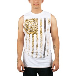 Civil - Rebel Flag Mens T-shirt in White with Leo
