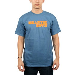 Beastie Boys Fader Blue and orange print Logo T-shirt