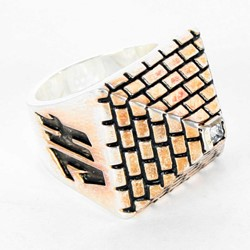 Han Cholo - His Pyramid Ring in Brass Plated Silver