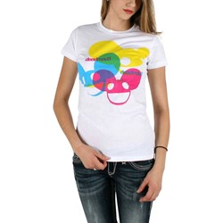 Deadmau5 - 3 Heads Color Logo Womens Tissue T-Shirt In White