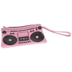Pink Boom Box Clutch Purse