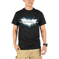 Dark Knight Rises - Mens Shattered Logo T-Shirt in Black