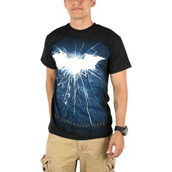Dark Knight Rises - Mens Bold Shattered Logo T-Shirt in Black