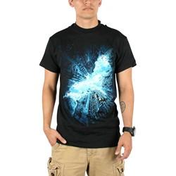 Dark Knight Rises - Mens Movie Poster Logo T-Shirt in Black