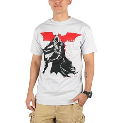 Dark Knight Rises - Mens Splatter Paint T-Shirt in Silver