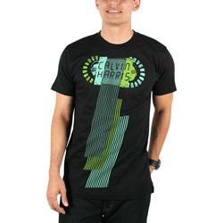 Calvin Harris - Mens Horizontal Lines T-shirt in Black