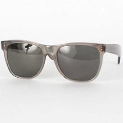 Super Sunglasses - Basic Wayfarer Sunglasses In Deep Black Trans