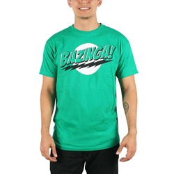 Big Bang Theory - Bazinga with Velcro Cape T-Shirt in Green/Black