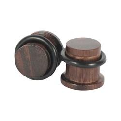 Dark Solid Wood Single Flare Plug