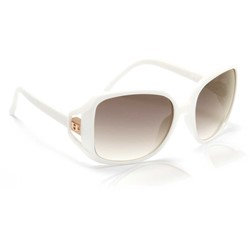 Hoven - Glam Sunglasses In White / Brown Fade