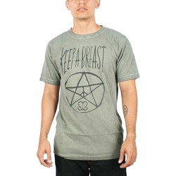 Keep A Breast - Mens Kabagram T-shirt in Army