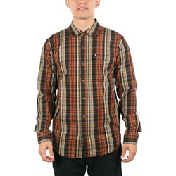 Omit - Mens Franklin Woven Shirt in Maroon