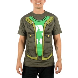 Big Bang Theory - Mens Leonard Trompe T-shirt in Dark Green
