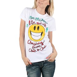 Mac Miller - Womens Cheesing from Cheek T-Shirt in White