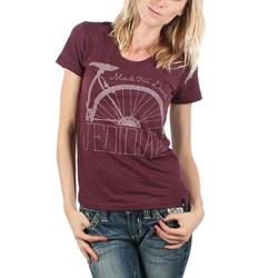 Jedidiah - Girls Cycling T-shirt in Burgundy