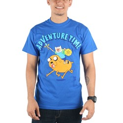 Adventure Time - Mens Onward Charge! T-Shirt in Navy