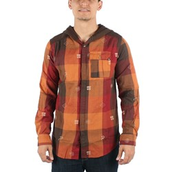 Insight - Mens Hipocrisy Hooded Woven Shirt in Red/Orange