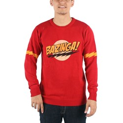Big Bang Theory - Mens Bazinga Knit Sweater in Red