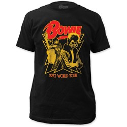 David Bowie - Mens 1972 World Tour Fitted T-Shirt in Black