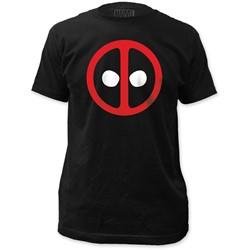 Deadpool - Mens Logo Fitted T-Shirt in Black