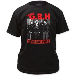 G.B.H. - Mens Give Me Fire T-Shirt in Black