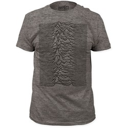 Joy Division - Mens Unknown Pleasures Fitted T-Shirt in Heather Grey