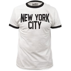 Impact Originals - Mens New York City Ringer Fitted T-Shirt in White/Black