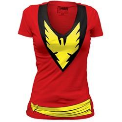 Phoenix - Womens Dark Phoenix Deep V-Neck Tunic in Red