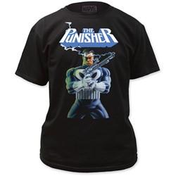 The Punisher - Mens Smoking Guns T-shirt in Black