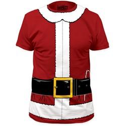 Impact Originals - Mens Santa Claus Big Print Subway T-Shirt in Cardinal