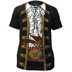 Impact Originals - Mens Pirate Prince Big Print Subway T-Shirt in Black