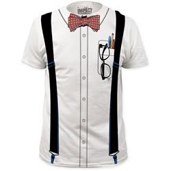 Impact Originals - Mens Nerd Big Print Subway T-Shirt in White
