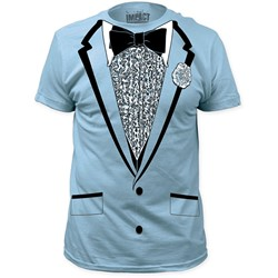 Impact Originals - Mens Retro Prom Big Print Subway T-Shirt in Light Blue