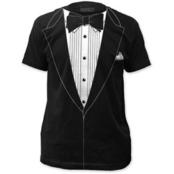 Impact Originals - Mens Tuxedo Big Print Subway T-Shirt in Black