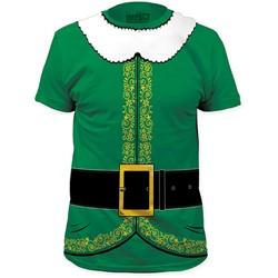 Impact Originals - Mens Elf Big Print Subway T-Shirt in Kelly Green