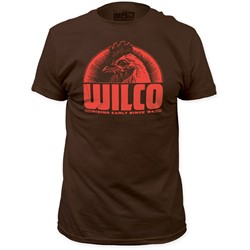 Wilco - Mens Rising Early Since '94 Fitted T-Shirt in Dark Chocolate