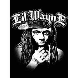 Lil Wayne - B/W 30'' x 40'' Textile/Fabric Poster