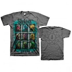 Slipknot - Mens Color Grid T-shirt in Charcoal
