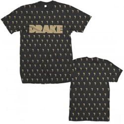 Drake - Mens Angels Allover T-shirt in Black