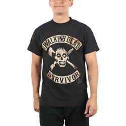 Walking Dead - Mens Survivor T-shirt in Black