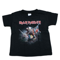 Iron Maiden - Toddler The Trooper Toddler Tee in Black
