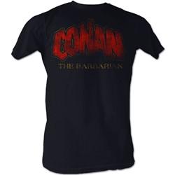Conan The Barbarian - Mens Distressed Logo T-Shirt In Navy