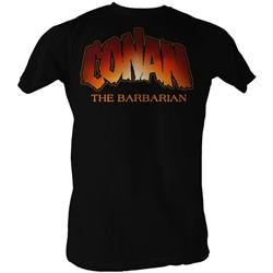 Conan The Barbarian - Mens New Logo T-Shirt In Black