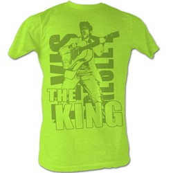 Elvis - Mens Elvis Green T-Shirt In Neon Mint Heather