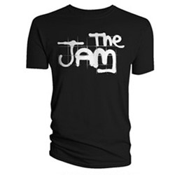 The Jam - Spray Logo Mens S/S T-Shirt In Black