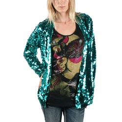 Iron Fist - Womens Glitzy Jacket in Blue