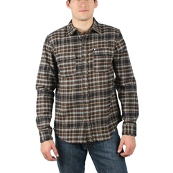 Omit - Mens Abandon Woven Shirt in Dark Brown