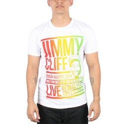Jimmy Cliff - Mens Reggae Fest Poster  T-Shirt In White